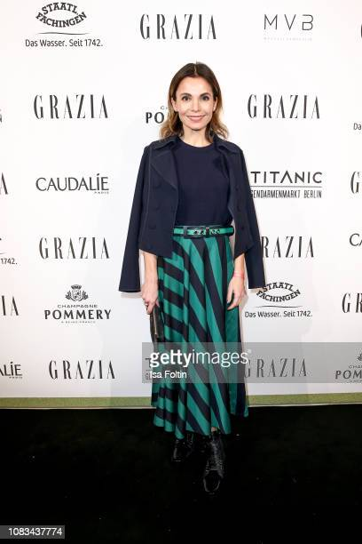 Nadine Warmuth during the Grazia Fashion Dinner 2019 at Titanic Hotel on January 16 2019 in Berlin Germany