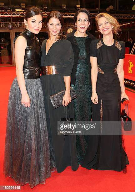 Nadine Warmuth Jessica Schwarz Bettina Zimmermann and Heike Makatsch attends the opening party of the 63rd Berlinale International Film Festival at...