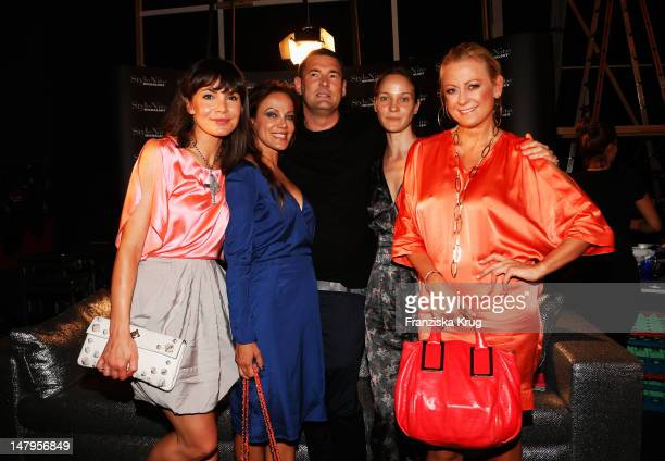 Nadine Warmuth Sonja Kirchberger Michael MichalskyJeannete Hain and Jenny ElversElbertzhagen attends the Michalsky Style Nite 2012 party during the...