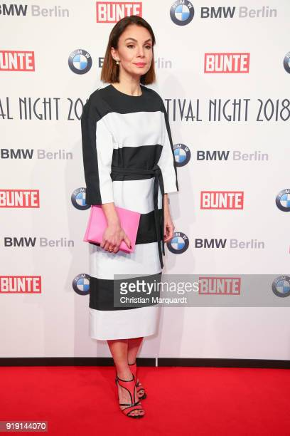 Nadine Wermuth attends the BUNTE BMW Festival Night on the occasion of the 68th Berlinale International Film Festival Berlin at Restaurant...