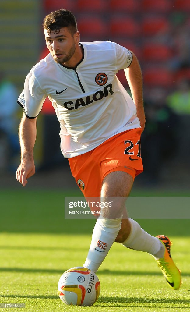Nadir Ciffci of Dundee United in action during the Scottish Premiership League match between Partick Thistle and Dundee United at Firhill Stadium on August 02, 2013 in Glasgow, Scotland.