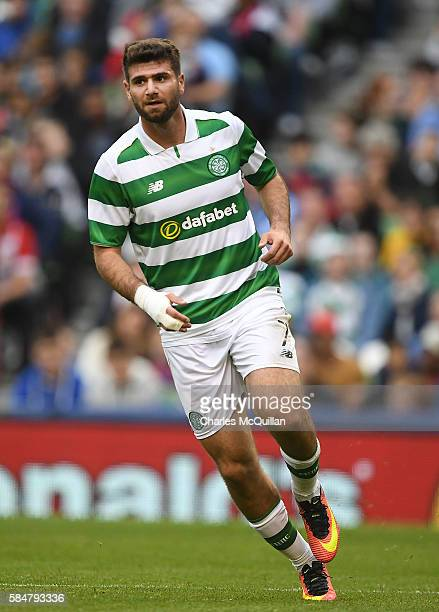 Nadir Ciftci of Celtic during the International Champions Cup series match between Barcelona and Celtic at Aviva Stadium on July 30 2016 in Dublin...