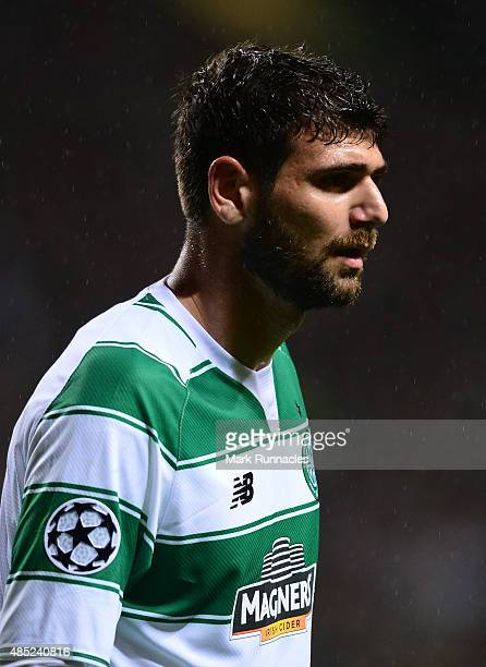 Nadir Ciftci of Celtic in action during the UEFA Champions League Qualifying play off first leg match between Celtic FC and Malmo FF at Celtic Park...