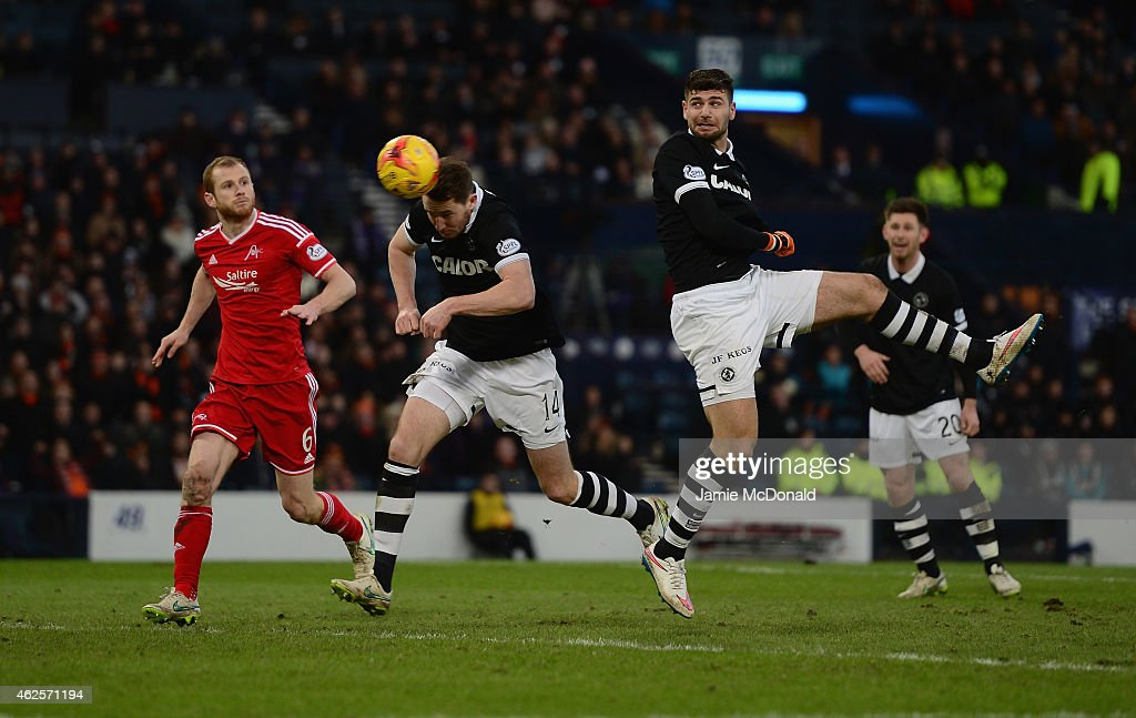 Nadir Ciftci of Dundee United scores his goal during the Scottish League Cup Semi-Final match between Dundee United and Aberdeen at Hampden Park on January 31, 2015 in Glasgow, Scotland.
