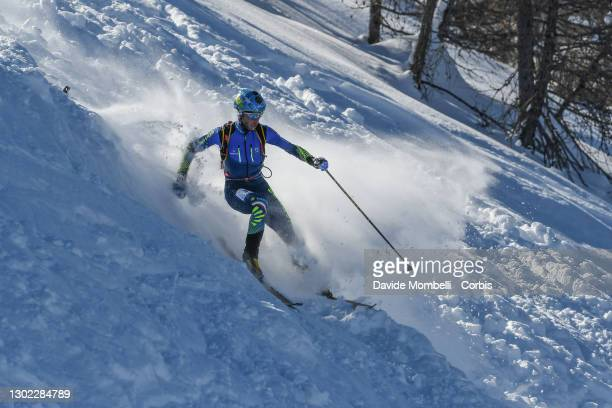Nadir Maguet in action during Italian Team Ski Mountaineering Championships on February 14, 2021 in ALBOSAGGIA, Italy.