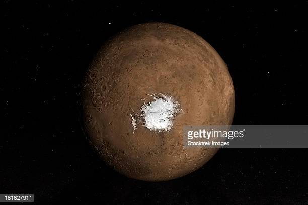 Nadir view of the Martian South Pole.