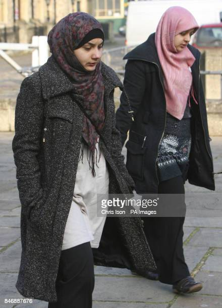 Nadiya Akhtar and Nazira Akhtar from Basingstoke arrive at Winchester Crown Court where they are on trial along with Kayum Mohammed-Abdul for the...