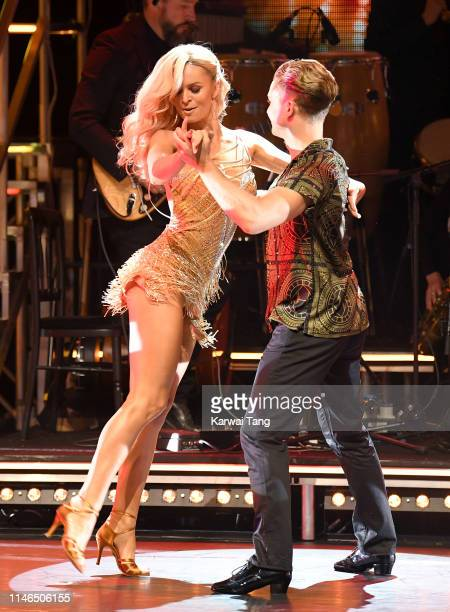 Nadiya Bychkova and AJ Pritchard attend the Strictly Come Dancing The Professionals photocall at Elstree Studios on May 02 2019 in Borehamwood England