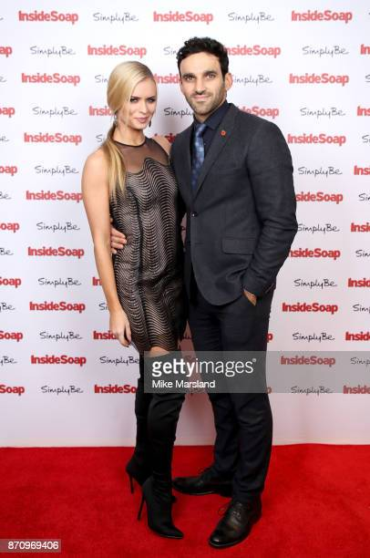 Nadiya Bychkova and Davood Ghadami attend the Inside Soap Awards held at The Hippodrome on November 6 2017 in London England