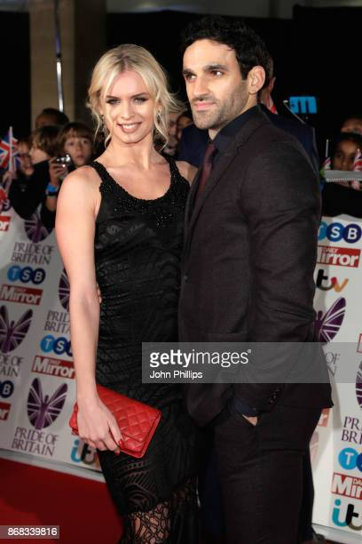 Nadiya Bychkova and Davood Ghadami attend the Pride Of Britain Awards at Grosvenor House on October 30 2017 in London England