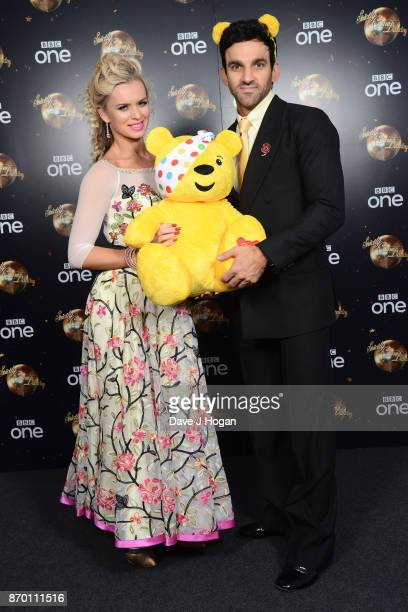 Nadiya Bychkova and Davood Ghadami attend the Strictly Come Dancing for BBC Children in Need photocall at Elstree Studios on November 4 2017 in...
