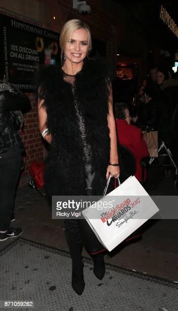 Nadiya Bychkova attends the Inside Soap Awards held at The Hippodrome on November 6 2017 in London England