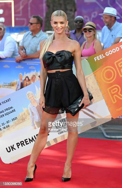 """Nadiya Bychkova attends the """"Off The Rails"""" World Premiere at Odeon Luxe Leicester Square on July 22, 2021 in London, England."""
