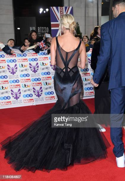 Nadiya Bychkova attends the Pride Of Britain Awards 2019 at The Grosvenor House Hotel on October 28, 2019 in London, England.