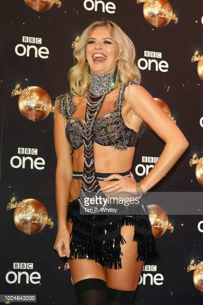 Nadiya Bychkova attends the red carpet launch for 'Strictly Come Dancing 2018' at Old Broadcasting House on August 27 2018 in London England