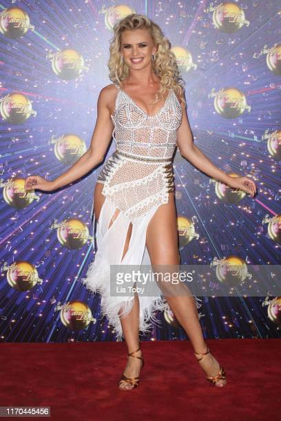 "Nadiya Bychkova attends the ""Strictly Come Dancing"" launch show red carpet at Television Centre on August 26, 2019 in London, England."