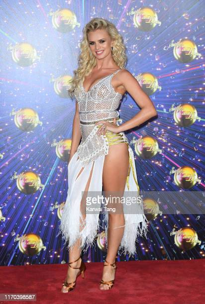 Nadiya Bychkova attends the Strictly Come Dancing launch show red carpet arrivals at Television Centre on August 26 2019 in London England