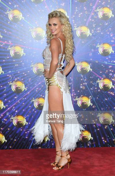 "Nadiya Bychkova attends the ""Strictly Come Dancing"" launch show red carpet arrivals at Television Centre on August 26, 2019 in London, England."