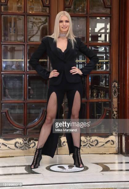 "Nadiya Bychkova poses during the ""Here Come The Boys"" photocall at London Palladium on May 25, 2021 in London, England."
