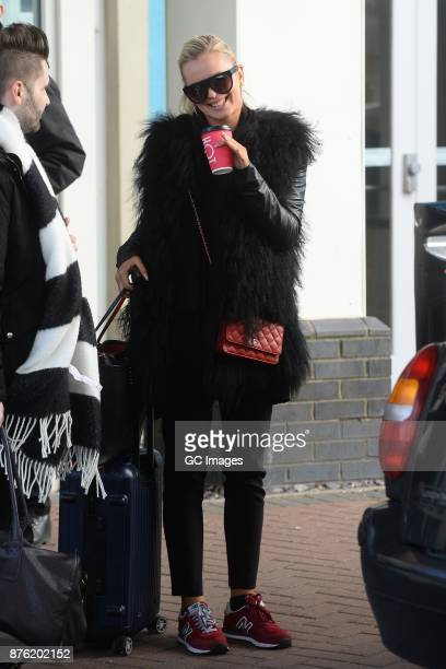 Nadiya Bychkova seen leaving her hotel on November 19 2017 in Blackpool England