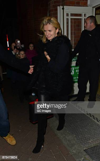 Nadiya Bychkova seen leaving the Tower Ballroom after Strictly rehearsals ahead of Saturday's live show on November 17 2017 in Blackpool England