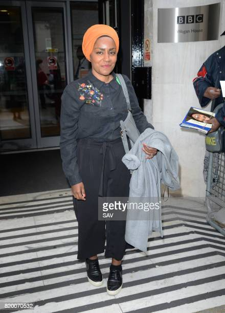Nadiya Hussain sighting at BBC Radio 2 on July 21 2017 in London England