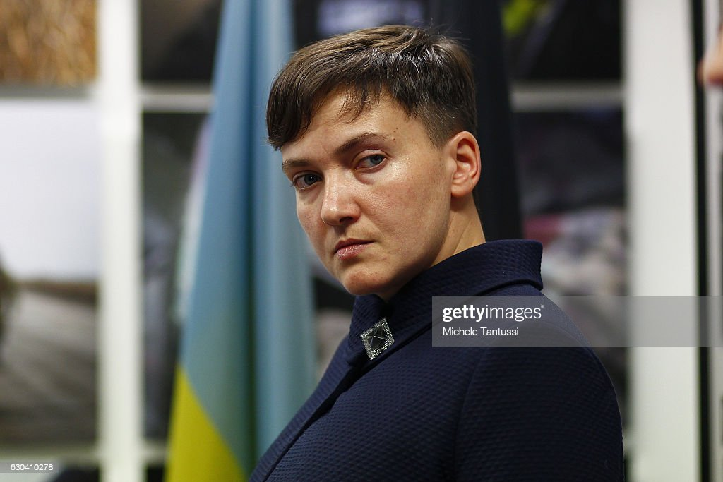 Nadiya Savchenko Speaks In Berlin : News Photo