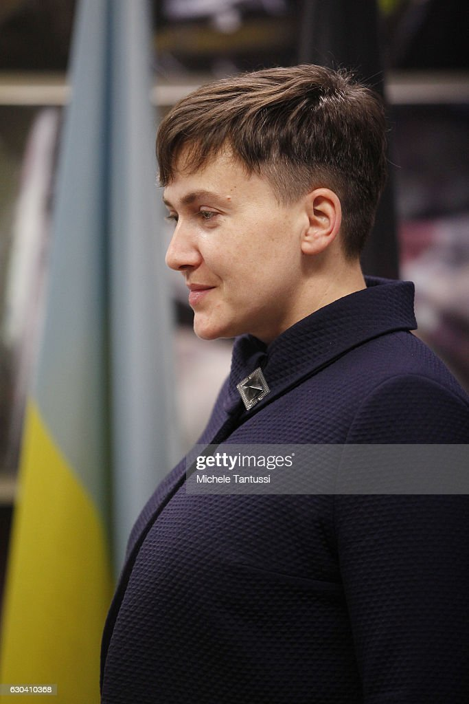 Nadiya Savchenko Speaks In Berlin : News Photo