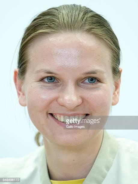 Nadiya Savchenko goes to the subway station after meeting with students on July 7 2016 at the Vistula University in Warsaw Poland Nadiya Savchenko is...