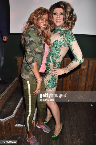 Nadja Abd el Farrag and Nina Queer during the 18th anniversary celebration of 'Irrenhouse' at Musik und Frieden on August 18 2018 in Berlin Germany