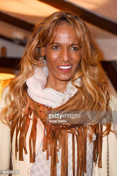 Nadja Abd El Farrag attends the SonnenklarTV insider party on March 9 2017 in Berlin Germany