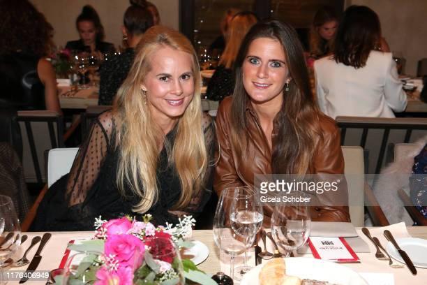 Nadja Anna zu SchaumburgLippe and Susanne Seehofer during the InStyle meets RIANI Dinner at Garden Restaurant / Hotel Bayerischer Hof on October 17...