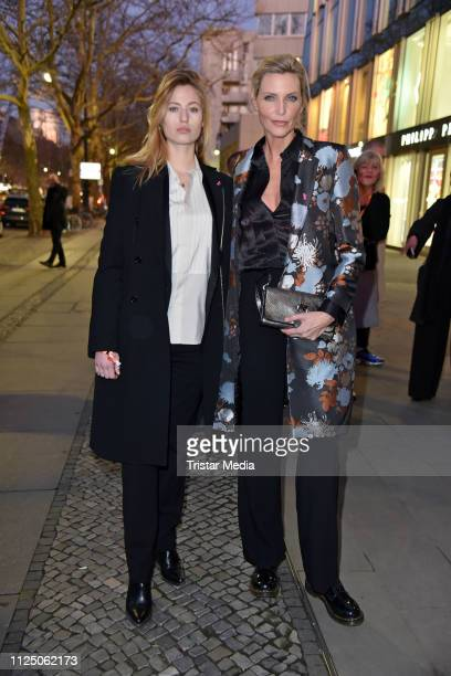 Nadja Auermann and her daughter Cosima Auermann attend the 'Peter Lindbergh Women Stories' world premiere after show party during the 69th Berlinale...