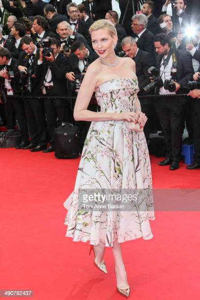 Nadja Auermann attends the opening ceremony and 'Grace of Monaco' premiere at the 67th Annual Cannes Film Festival on May 14 2014 in Cannes France