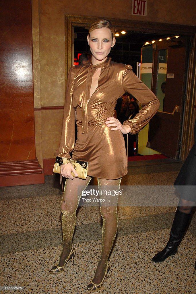 Nadja Auermann during The 2006 Women's World Awards - Inside Arrivals at The Hammerstein Ballroom in New York City, New York, United States.