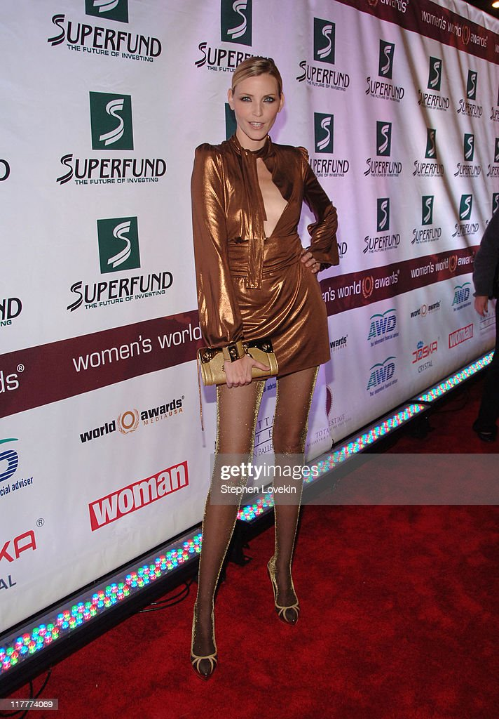 Nadja Auermann during The 2006 Women's World Awards - Red Carpet at The Hammerstein Ballroom in New York City, New York, United States.