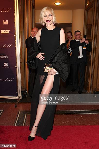 Nadja Auermann during the Semper Opera Ball 2015 at Semperoper on January 30 2015 in Dresden Germany