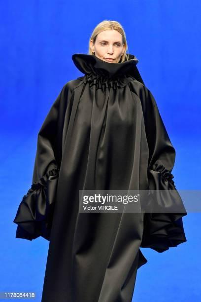 Nadja Auermann walks the runway during the Balenciaga Ready to Wear Spring/Summer 2020 fashion show as part of Paris Fashion Week on September 29,...