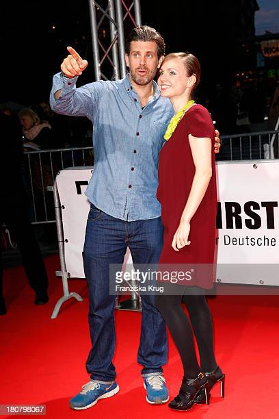 Nadja Becker and Steffen Groth attend the First Steps Awards 2013 at Stage Theater on September 16 2013 in Berlin Germany