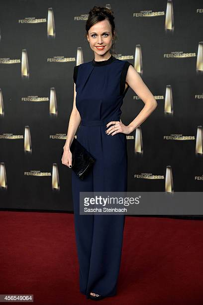 Nadja Becker arrives at the Deutscher Fernsehpreis 2014 at Coloneum on October 2 2014 in Cologne Germany