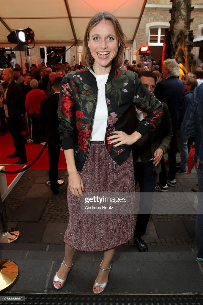 Nadja Becker attends the 'Film- und Medienstiftung NRW' summer party at Wolkenburg on June 13, 2018 in Cologne, Germany.