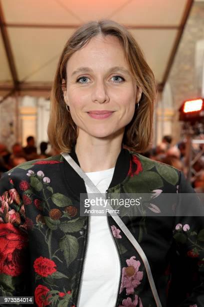 Nadja Becker attends the 'Film und Medienstiftung NRW' summer party at Wolkenburg on June 13 2018 in Cologne Germany