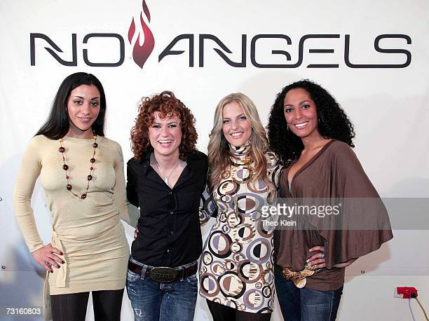 Nadja Benaissa, Lucy Diakovska, Sandy Moelling and Jessica Wahls at a press conference to announce the reunion of German pop group 'No Angels' on...