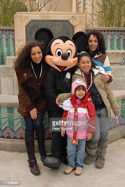 Nadja Benaissa Tochter Leila Jamila Jessica Wahls Tochter Cheyenne Jessica Mickey Mouse neue Attraktion The Hollywood Tower Hotel Disneyland Resort...