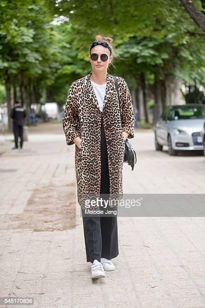 Nadja Bender at the Chanel show at Grand Palais on July 5 2016 in Paris France