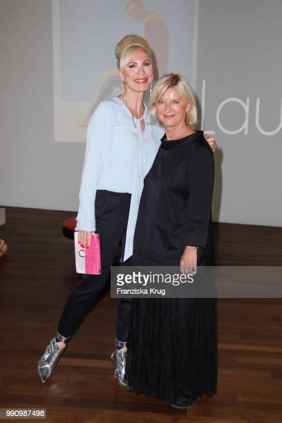 Nadja Michael and designer Elisabeth Schwaiger at the Laurel Collection Presentation during the Berlin Fashion Week Spring/Summer 2019 at Kunstlager...