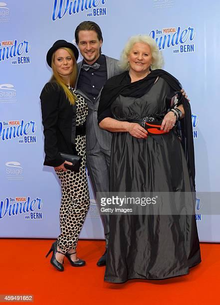 Nadja Scheiwiller Alexander Klaws and Marika Lichter attend the 'Das Wunder von Bern' musical premiere on November 23 2014 in Hamburg Germany