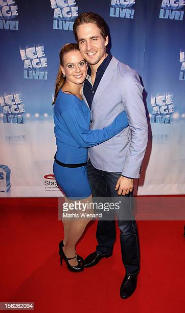 Nadja Scheiwiller and Alexander Klaws attend the Ice Age Live gala premiere at ISS Dome on November 12 2012 in Duesseldorf Germany