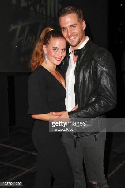 Nadja Scheiwiller and Alexander Klaws during the premiere of 'Flashdance - Das Musical' at Mehr! Theater on September 20, 2018 in Hamburg, Germany.