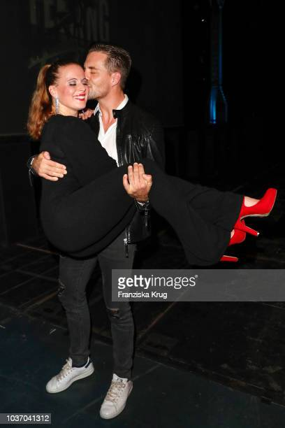 Nadja Scheiwiller and Alexander Klaws during the premiere of 'Flashdance Das Musical' at Mehr Theater on September 20 2018 in Hamburg Germany